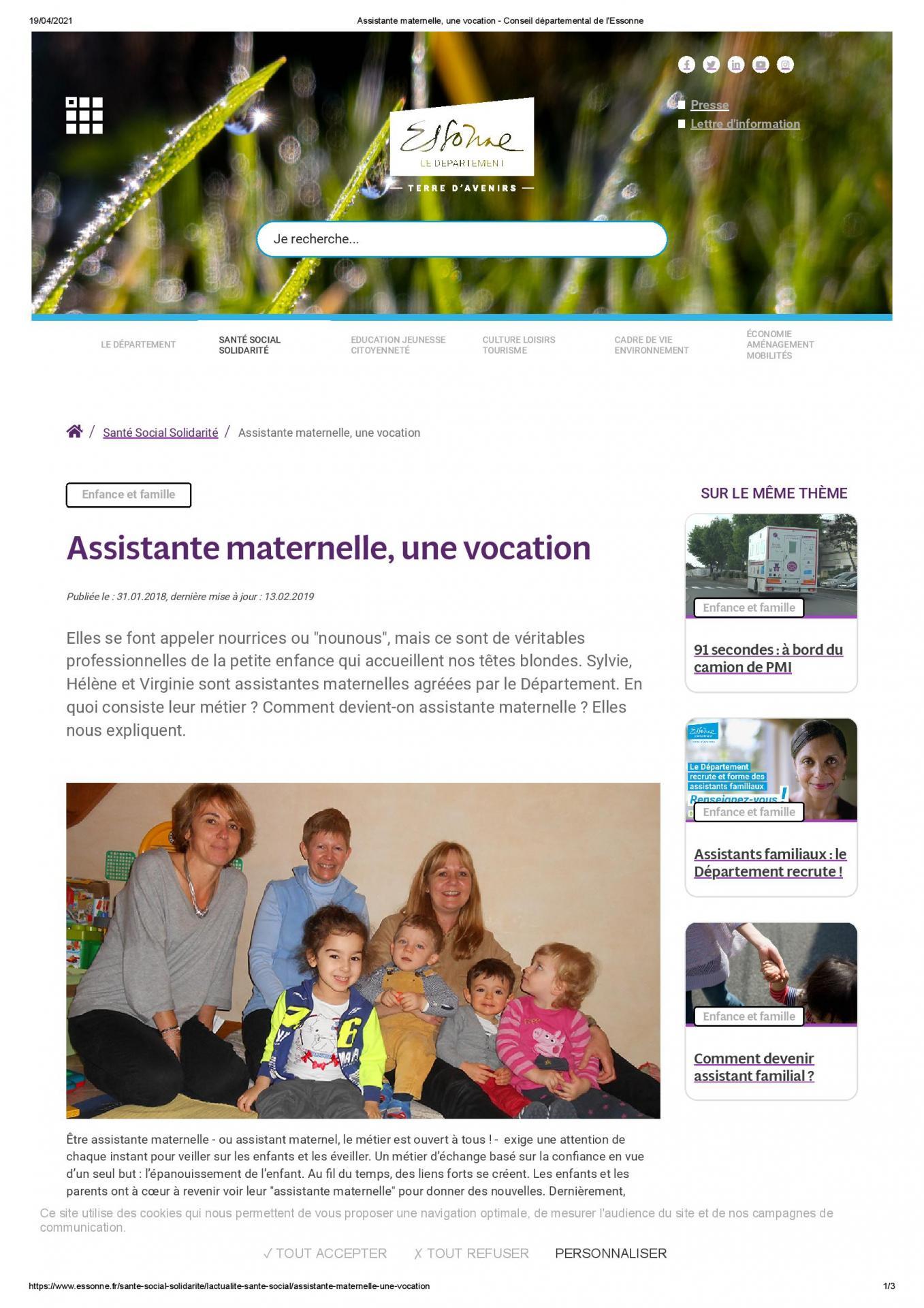 Assistante maternelle une vocation conseil departemental de l essonne 1 page 001