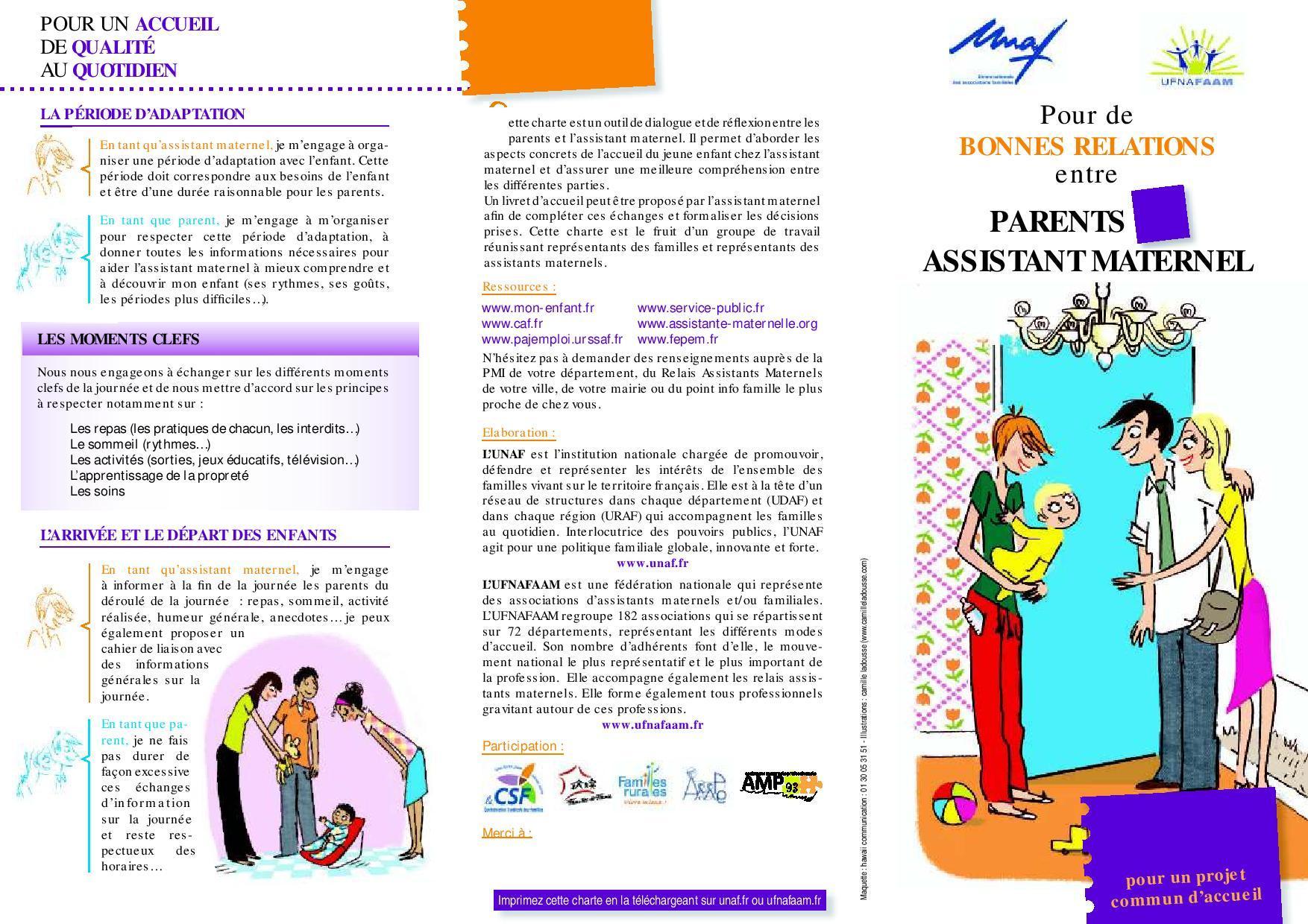 Parent / Assistante maternelle